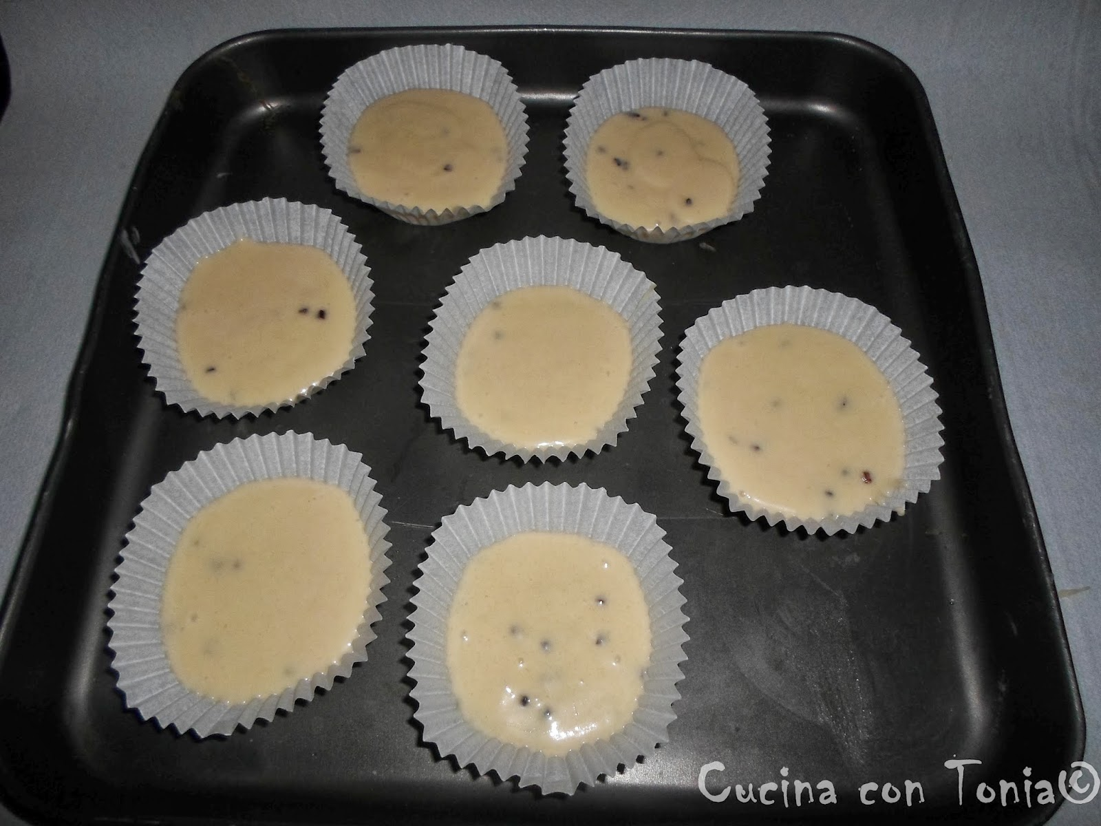 Cupcakes in forno